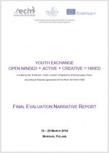 Final Evaluation Narrative Report